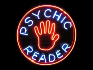 psychic reader neon sign